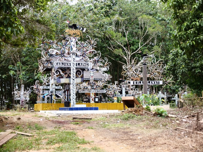 Dayak Kayan Cemetery in East Kalimantan