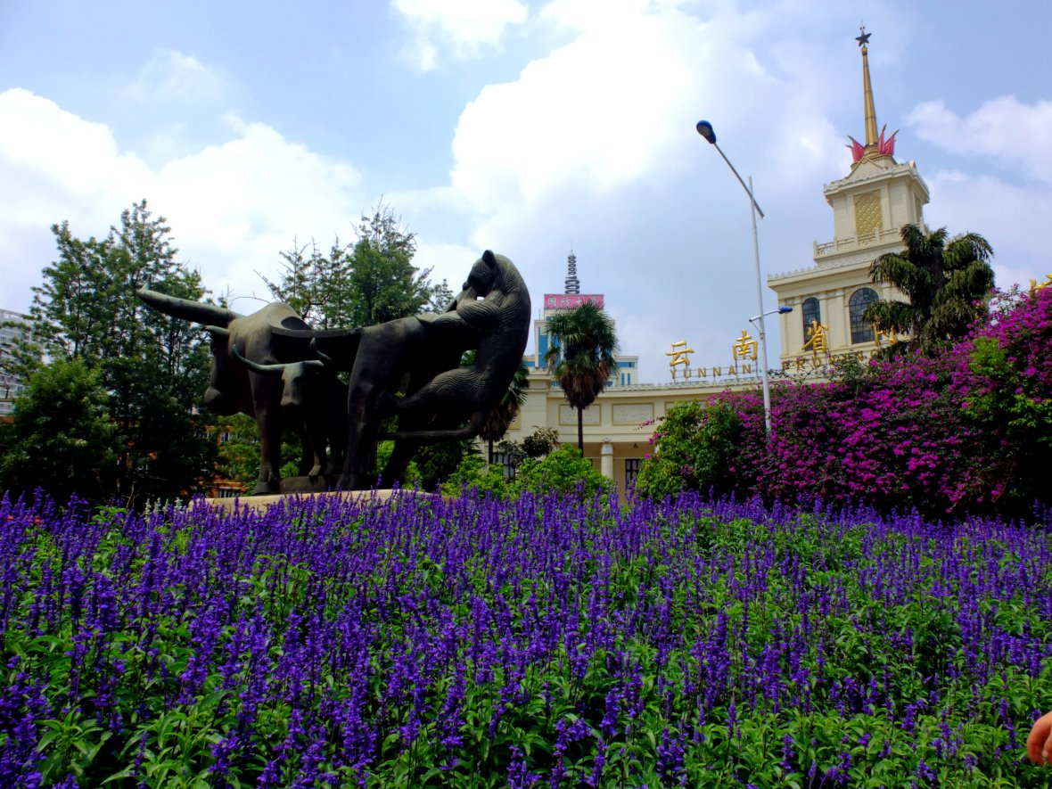 mini floer garden in front of Yunnan Museum