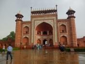The red gate of Taj Mahal.